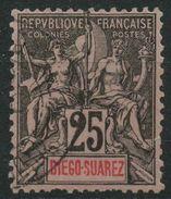 Diégo-Suarez (1893) N 45 (o) - Diego-suarez (1890-1898)