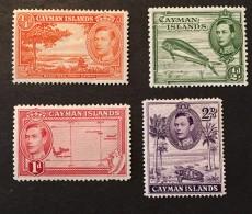 Cayman   - MH*  - 1938-1943  - # 100, 102, 104 - Cayman Islands