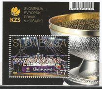 SI 2017-27 EU CHAMPIONSHIP I BASKETBALL, SLOVENIA, S/S, MNH - Slowenien