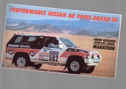 (automobile) Autocollant NISSAN Paris Dakar 1988 (PPP6628) - Publicités