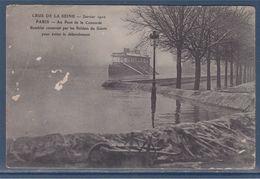 = Crue De La Seine Janvier 1910 Paris Au Pont De La Concorde Remblai Construit Par Les Soldats Du Génie - Paris Flood, 1910