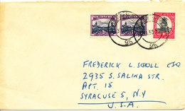 South Africa Cover Sent To USA Johannesburg 14-11-1953 - South Africa (...-1961)