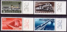SWITZERLAND 1947 Mi #484-87 Compl.set MNH CV 6€ 100th Anniv Of Swiss Railroads Margins! - Switzerland