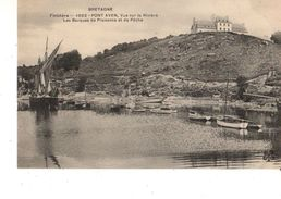 29---RARE----PONT-AVEN--vue Sur La Rivière Les Barques De Plaisance Et De Pêche--voir 2 Scans - Pont Aven