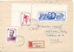 Hungary Registered Cover Sent To Czechoslovakia 10-12-1964 - Hungary