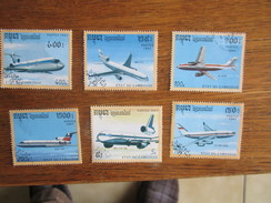 151        AVIONS  1024/1029  CAMBODGE    C/ 3.00 - Avions