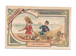 CHROMO  LES JOUETS  MODERNES - Les Tombereaux - - Chocolat