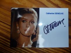 Autographe Catherine >DENEUVE - Autographes