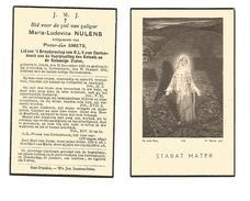 616. MARIA-LUDOVICA NULENS Echtg. P. Smets - Lid Broedersch. O.L.V. Cortenbosch - °ALKEN 1865  /+CORTENCOSCH 1935 - Images Religieuses