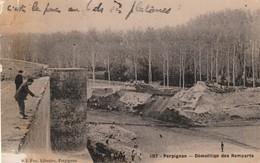 66/ Perpignan - Edition Fau N°107 Démolition Des Remparts - - Perpignan