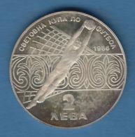 F7299 /  - 2 Leva - 1986 - Football Mexico - Bulgaria Bulgarie Bulgarien Bulgarije - Coins Munzen Monnaies Monete - Bulgaria