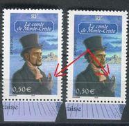 France - N° 3592 ,Variété , Main Gris Rose + Bleu Gris, Timbres Neufs Luxe  - Ref V305 - Abarten: 2000-09 Ungebraucht