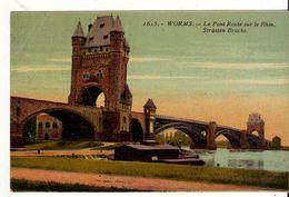 CPA - WORMS - Le Pont Route Sur Le Rhin - Worms