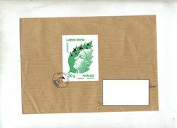 Lettre Cachet Poste 43227A   Sur Beaujard Grand Format - Marcophilie (Lettres)
