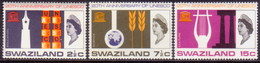 SWAZILAND 1966 SG 121-23 Compl.set MNH UNESCO - Swaziland (...-1967)