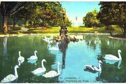 CPA N°17448 - LOT DE 6 CARTES D' AVIGNON - LA FONTAINE DU PARC + CACHET MILITAIRE TRAIN SANITAIRE 44 P.L.M. - Avignon