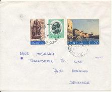 Italy Cover Sent To Denmark 1975 - 6. 1946-.. Republik