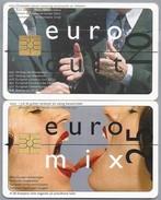 NL.- 2 Telefoonkaarten. 10 En 25 EURO. Euro Cult En Euro Mix. Verdrag Van Amsterdam - Miss Europe Verkiezingen. - Netherlands