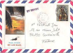 MARCOPHILIE NAVALE LETTRE POLYNESIE FRANCAISE EV HENRY 1985 - Polynésie Française