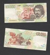 100.000 100000 Lire 1995 Caravaggio II° Tipo - [ 2] 1946-… : Républic
