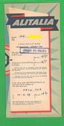ALITALIA Airlines Avion Flight Aerei Busta Vuota X Carta D'imbarco 1959 - Plane