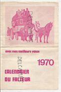 Calendrier Du Facteur 1970. Malle-poste, Tarifs, - Calendriers