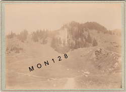 SUISSE BERNE OCHSEN PRES LE GURNIGEL- 1892  PHOTO TIRAGE ALBUMINE COLLEE SUR CARTON - Photographs