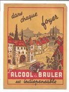 PROTEGE CAHIER L'ALCOOL A BRULER  DESSIN DE CRIB - Book Covers