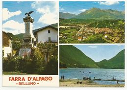 BELLUNO (022) - FARRA D'ALPAGO (vedute) - FG/Vg 19?? (senza Francobollo) - Belluno
