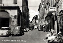 PECCIOLI (PISA) - VIA ROMA - SCOOTER AUTO EPOCA OLD CARS - Pisa