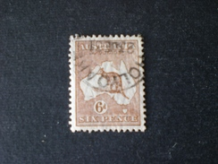 AUSTRALIA AUSTRALIE 1915 -1924 Definitive Issues - Kangaroo And Map 6 D  - New Watermark 3 - 1913-48 Kangaroos