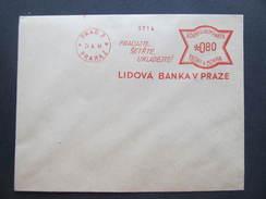 BRIEF Praha Lidova Banka 1941  Frankotype Freistempel Postfreistempel /// N8217 - Böhmen Und Mähren