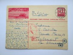 Switzerland Postkarte - STALDEN SAAS-GRUND  - Military German Censor Stamp Zensure WW2 - Switzerland