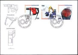 Liechtenstein 2007: Kombihammer, Bagger & Heizfläche Zu 1397-99 Mi 1454-56 FDC (Zu CHF 14.50) - Factories & Industries
