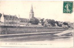 ** *  49  **** SAUMUR L'église Saint Nicolas  TTB - Saumur