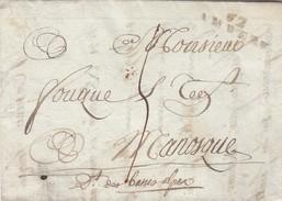 PUY DE DOME. 62/AMBERT 2 PLUVIOSE AN 13 POUR MANOSQUE - 1801-1848: Vorläufer XIX
