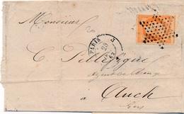 Lettre N°16 Paris Etoile Pleine - 1849-1876: Klassieke Periode