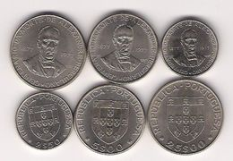 Complet Set Of 3 Coins From 100th Anniversary-Death Of Alexandre Herculano - 1977 - AU - Nice Price - Portugal