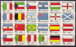 Soccer World Cup 1982 - EL SALVADOR - Set 24v MNH** - Coupe Du Monde