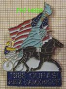 PRIX D' AMERIQUE 1988  Cheval  OURASI  Statue De La Liberté   PMU  COURSES HIPPIQUES - Games
