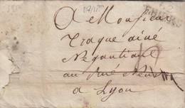 PUY DE DOME. 62/THIERS  26 OCTOBRE 1812 POUR LYON - Poststempel (Briefe)