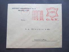 BRIEF Praha 22 GSK Teppich 1934  Frankotype Freistempel Postfreistempel /// N8249 - Briefe U. Dokumente