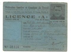 LICENCE FEDERATION SPORTIVE ET GYMNIQUE DU TRAVAIL 1945 - Maps