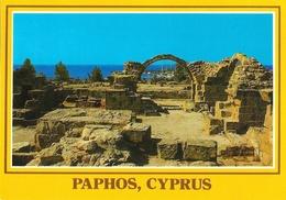 Chypre - Paphos, Cyprus - Colonnes, Château Byzantin - Carte Non Circulée - Chypre