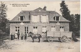 CPA Amfreville-les-Champs, Café-épicerie Barbay - France