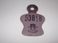 Belgique.Plaque De Vélo Ou Moto De 1921.Hainaut 53818. - Plaques D'immatriculation