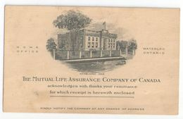 Carte Commerciale/ The Mutual Life Assurance Company Of Canada/Waterloo/ONTARIO/Canada/Vers 1930      CAC111 - Canada