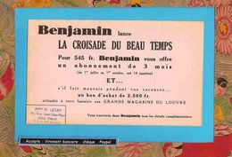 BUVARD / BLOTTER  ::  BENJAMIN  La Croisade Du Temps - Stationeries (flat Articles)