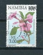 2000 Namibia Overprint Flowers,blümen Used/gebruikt/oblitere - Namibië (1990- ...)