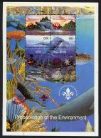 TOUVA 1997, Preservation Ot The Environment, FANTAISIE / CINDERELLA, OVPT RED, Feuillet 4 Valeurs, Neuf / Mint. R799 - Vignettes De Fantaisie